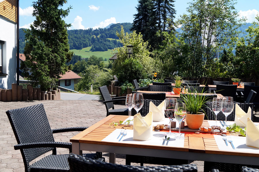 Gastgarten Genussrestaurant Alpenblick in Lingenau